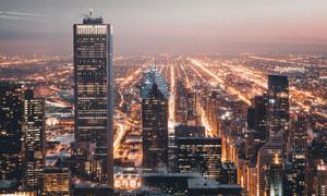 美丽的城市夜景灯光高清摄影图片