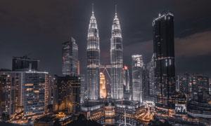 大都市美丽夜景高清摄影图片