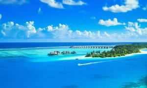 美丽的海边度假村摄影图片