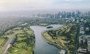 城市公园俯视图高清摄影图片