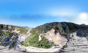 李花谷美丽全景摄影图片