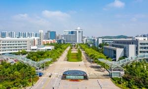 青岛中国石油大学航拍图摄影图片