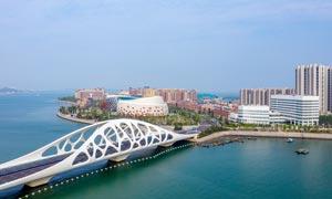 青岛西海岸新区桥梁摄影图片