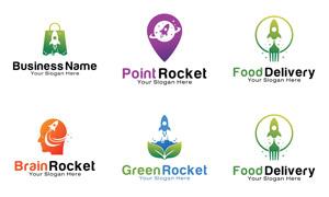 綠葉手提袋等元素標志設計矢量素材