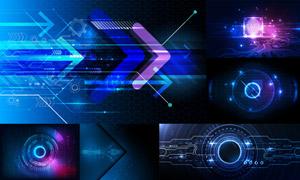 光效元素炫彩科幻背景設計矢量素材