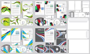 多款企業視覺元素圖案主題矢量素材