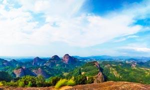 连绵的青山美景全景摄影图片