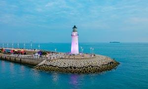 青岛奥帆灯塔高清摄影图片