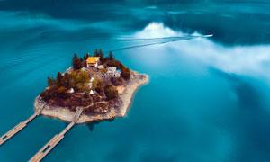 林芝巴松措湖泊景区摄影图片