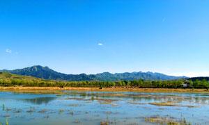 涞源美丽的湿地公园摄影图片
