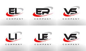 字母组合创意标志设计矢量素材集V09