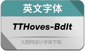 TTHoves-BoldItalic(с╒ндвжСw)