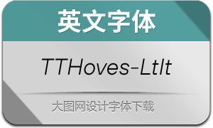 TTHoves-LightItalic(英文字体)
