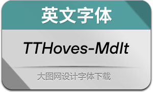 TTHoves-MediumItalic(英文字体)