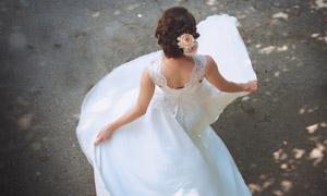鲜花头饰白色婚纱美女摄影 澳门线上必赢赌场