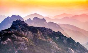 壮丽的黄山景观摄影图片