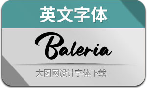Baleria(英文字体)