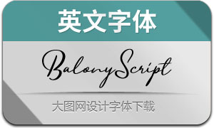 BalonyScript(英文字体)