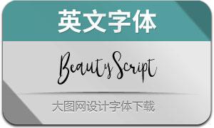 BeautyScript(英文字體)