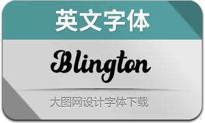 Blington(英文字体)