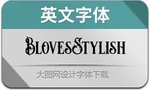 BlovesStylish(英文字体)