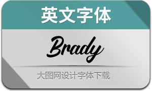 Brady(英文字体)