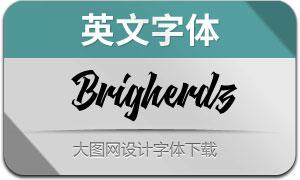 Brigherdz(英文字体)