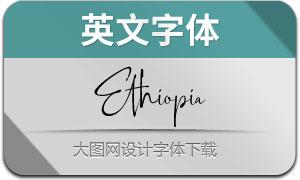 Ethiopia(英文字体)