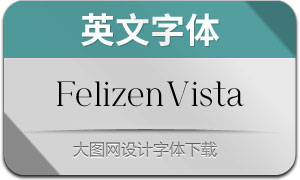 FelizenVista(英文字体)