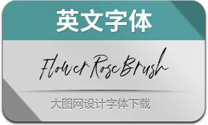 FlowerRoseBrush(英文字体)