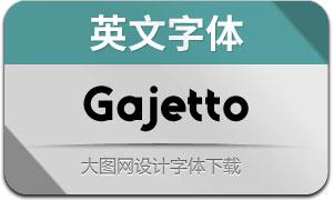 Gajetto(英文字体)