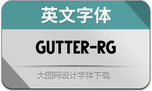 Gutter-Regular(英文字体)
