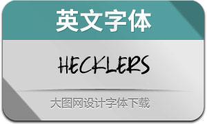 Hecklers(英文字体)