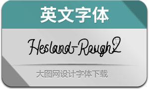Hesland-RoughTwo(英文字體)