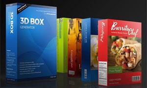 中文版3D包装盒子生成器PS动作