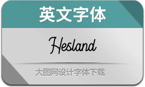 Hesland(英文字体)