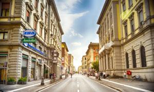 法国街道建筑高清摄影图片