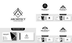 标志及其名片版式设计矢量素材V003