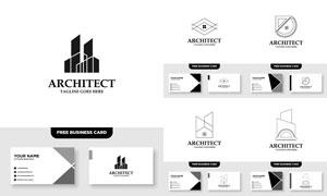 标志及其名片版式设计矢量素材V008