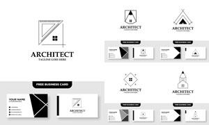标志及其名片版式设计矢量素材V009