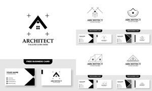 标志及其名片版式设计矢量素材V010