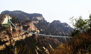 红崖谷玻璃栈道美景摄影图片
