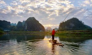 英西峰林水鄉九龍小鎮攝影圖片
