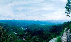 大别山区美丽全景图摄影图片