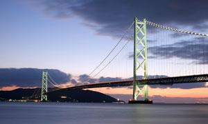 美国金门大桥黄昏美景摄影图片