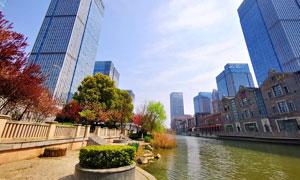 武汉楚河汉街商业街美景摄影图片