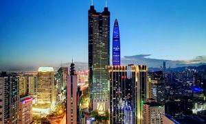 深圳罗湖美丽夜景高清摄影图片