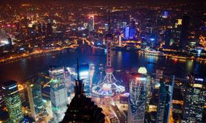 上海陆家嘴美丽夜景高清摄影图片