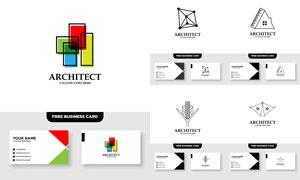 标志及其名片版式设计矢量素材V049