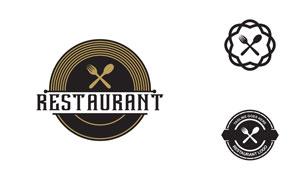 刀叉元素餐厅主题标志设计矢量素材